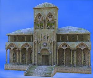 3d elven town hall elvs model