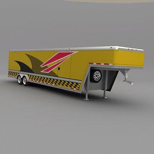 gooseneck car hauler 3d model