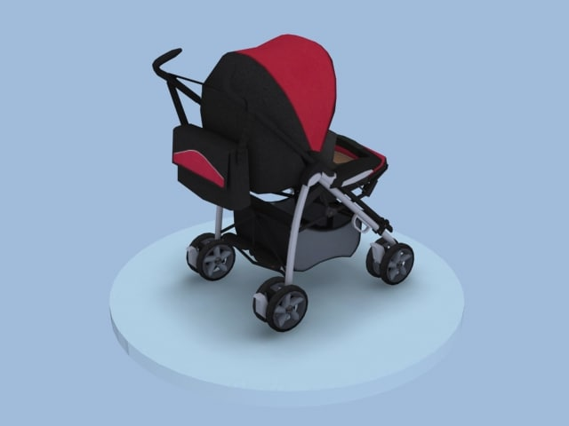 child carriage 3d model