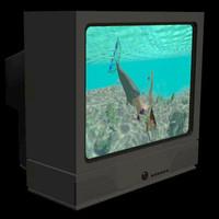 3d model of 21 tv pztv