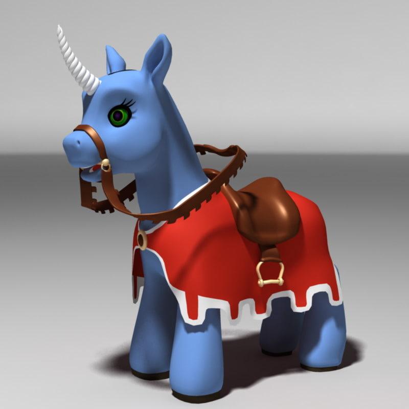 3ds max pony unicorn uni