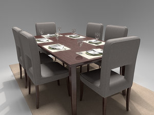 3d max dining set