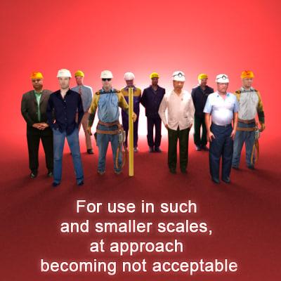 10 builders man workers 3ds