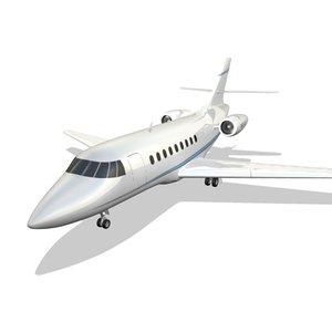 dassault falcon 2000 3d model