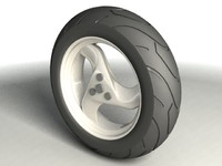 scooter wheel 3d max