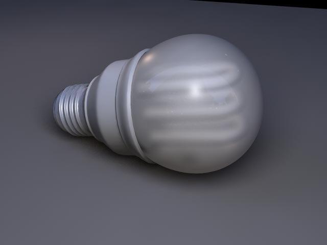 flourescent light bulb 3d 3ds