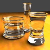 3ds max drink glasses
