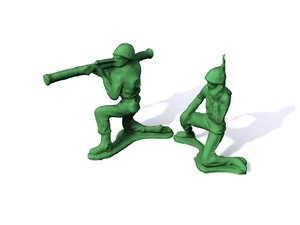 3d original army men series model