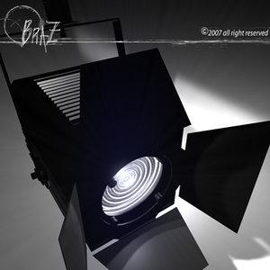 3d stage light fresnel lens model