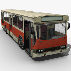 old european city bus 3ds