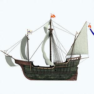 3d model ship santa vessels