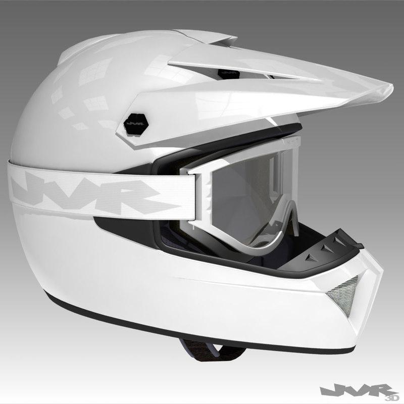 goggles helmet motocross 3d model