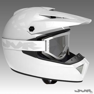 goggles helmet motocross 3d model