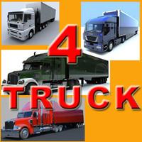 3d trucks freightliner coronado model