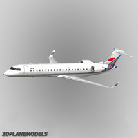 3d model bombardier crj-700 china united airlines