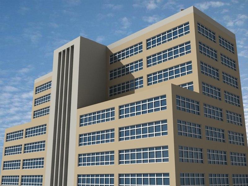 office building 13 3d 3ds