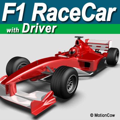f1 racecar 3d c4d