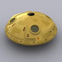 3d model of sporty ufo