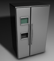 3d fridge refigerator model