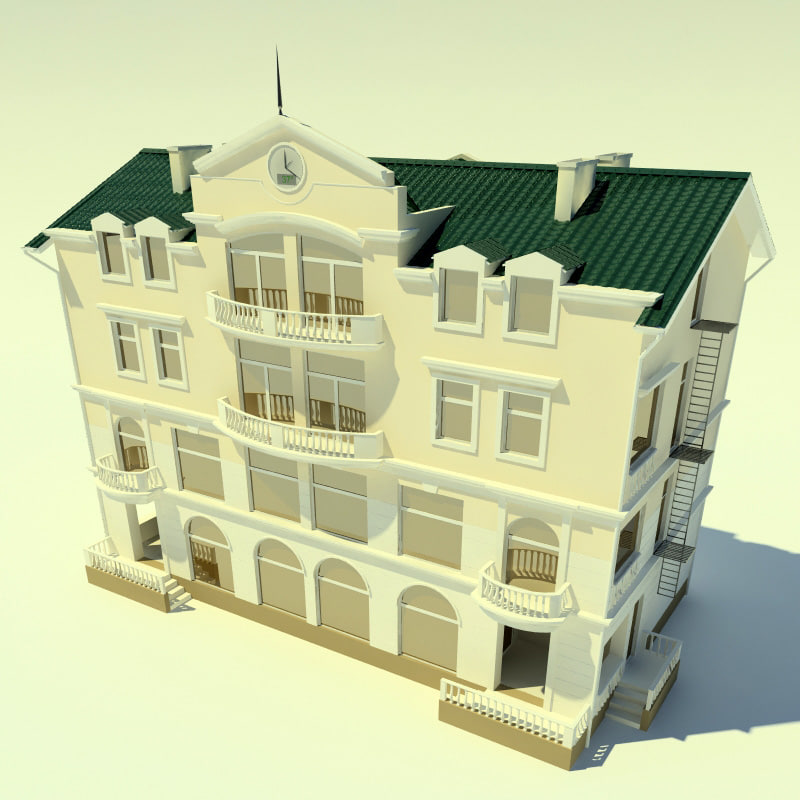 house hotel 3ds