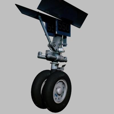 3d model aircraft wheel