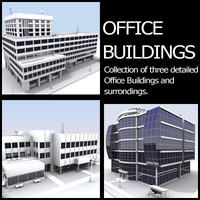 3d model office buildings