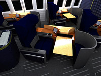 AIRBUS A340 AIRCRAFT FIRST CLASS CABIN 2007