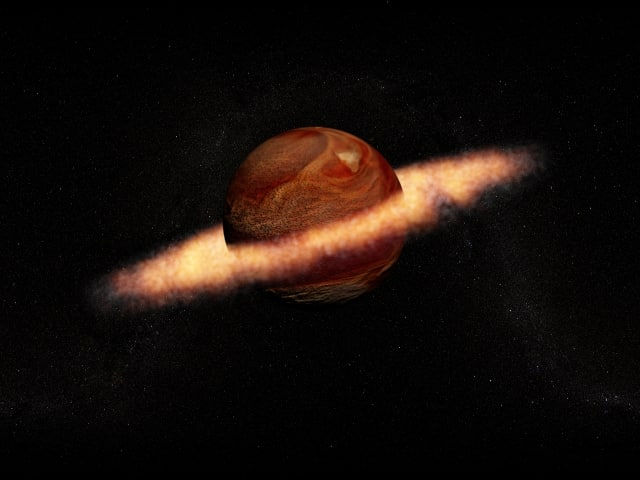 planet ring 3d max