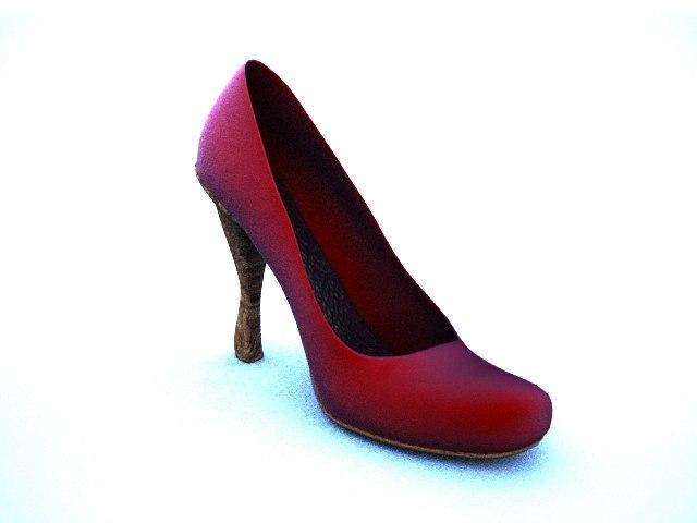 3dsmax nose heel women shoe