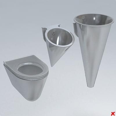 3d model toilet wc bidet