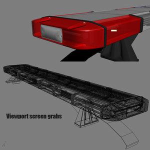 police light bar 3d model