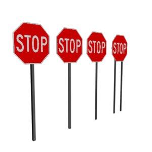 3dsmax stop sign
