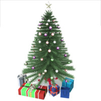 3d model christmas tree presents