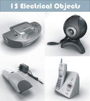 electric lamp telephones 3ds