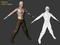 3d character rigged model