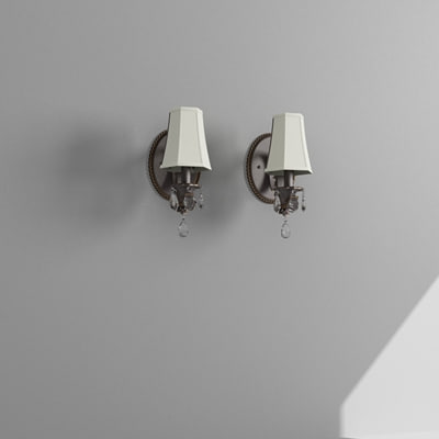 3d max wall sconce