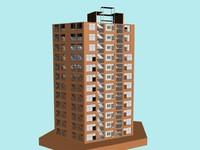 3d max building flat