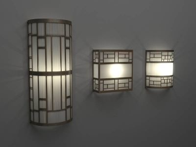 art deco wall lamps 3ds