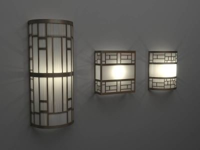 Wall Lamps Drawing : art deco wall lamps 3ds