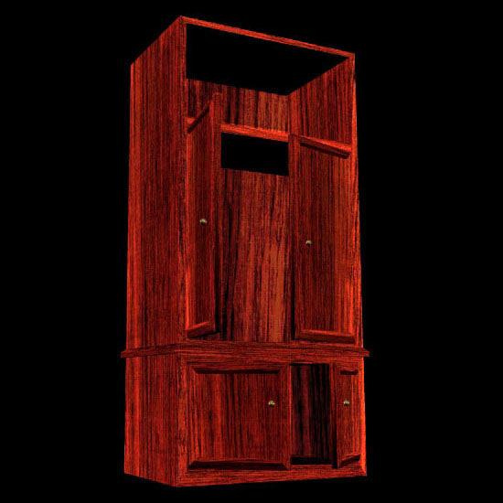 3d model modern armoire closet pzarmoire