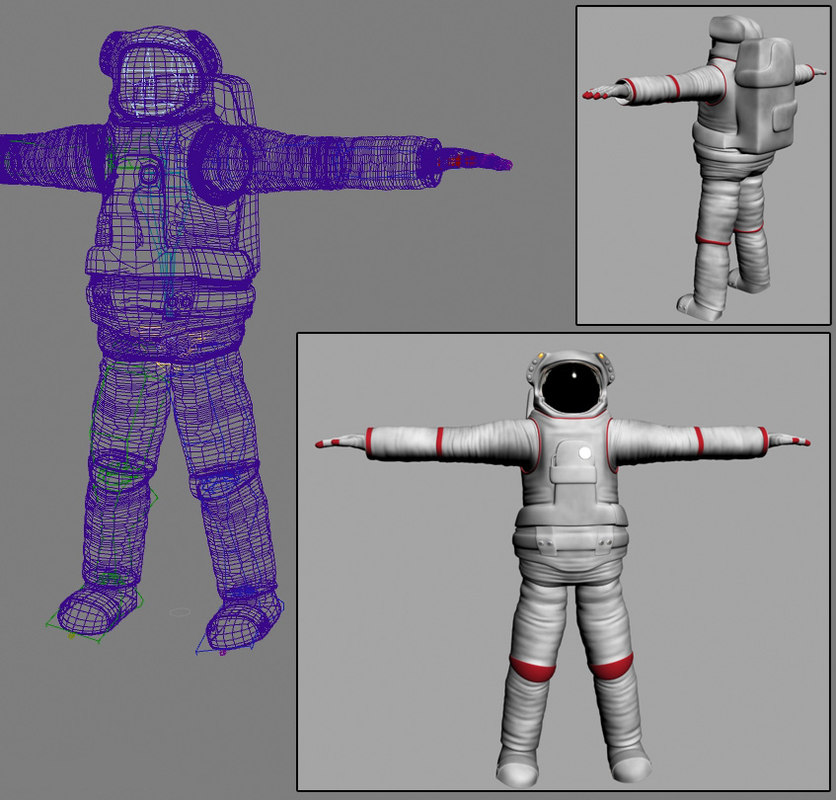 nasa astronaut suit 3d model