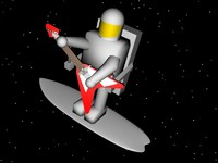 3d astronaut guitar
