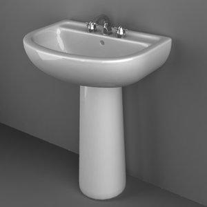 3dsmax sink basin