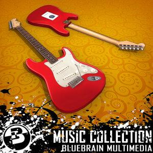 electric guitar 3d max