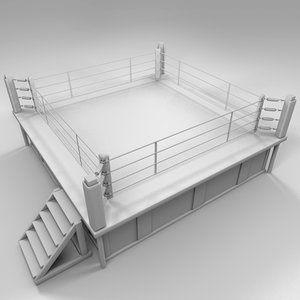 boxing ring wrestling 3d model