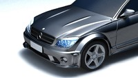 3ds max c63 c amg mercedes benz