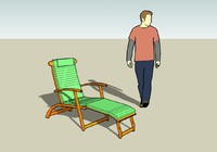 outdoor lounge chair 3ds free
