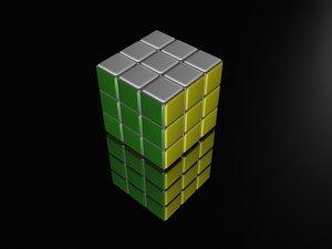 rubic cube 3d model