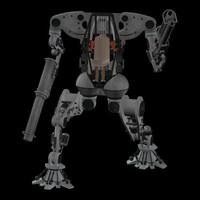 robot zero pzcytank 3d model