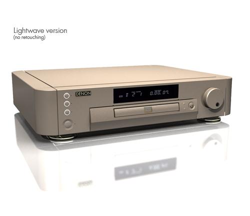 3d model of dvd player rendering